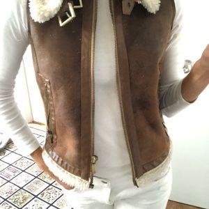 MICHAEL KORS faux shearling vest